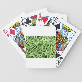 Organic Green Snap Beans Veggie Vegitarian Bicycle Playing Cards