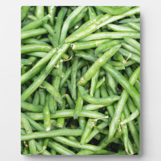 Organic Green Snap Beans Veggie Vegitarian Plaque