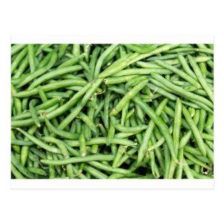 Organic Green Snap Beans Veggie Vegitarian Postcard