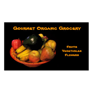 Organic Grocery Pack Of Standard Business Cards