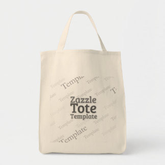 Organic Grocery Tote Bag Custom Template