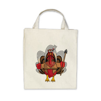 Organic Grocery Tote Bag  -  Geronimo Turkey