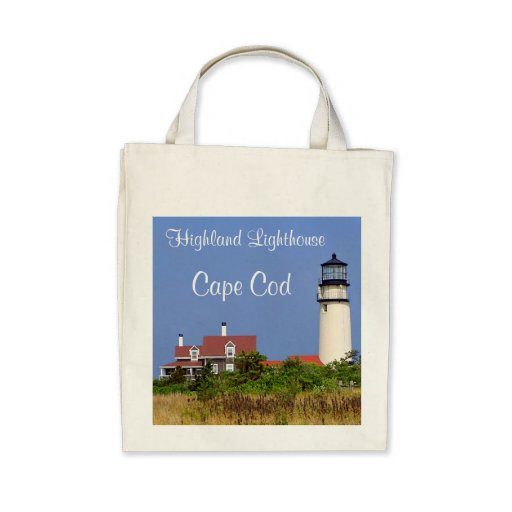 Organic Grocery Tote Highland Lighthouse Cape Cod Tote Bag