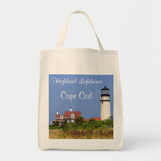 Organic Grocery Tote Highland Lighthouse Cape Cod Grocery Tote Bag