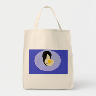 organic grocery tote Mother and Child design Bag