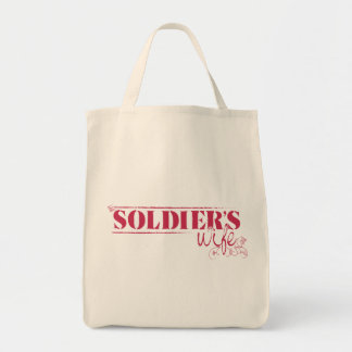 Organic Grocery Tote - Soldier's Wife Grocery Tote Bag