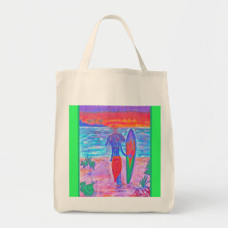 Organic Grocery Tote - Tropical Fruit Punch Grocery Tote Bag
