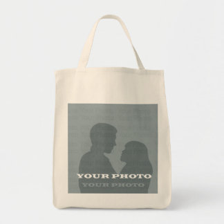 Organic Grocery Tote Your Photo Template Grocery Tote Bag