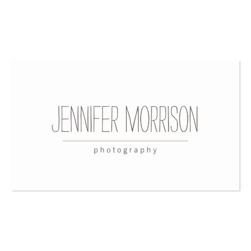 Organic Hand-Written Photographer's Business Card