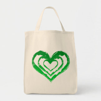 Organic Heart Green Grocery Tote Grocery Tote Bag