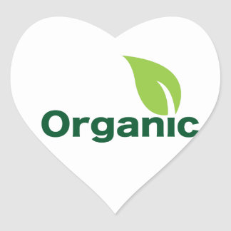 Organic Heart Sticker