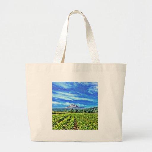 Organic herb farm canvas bags