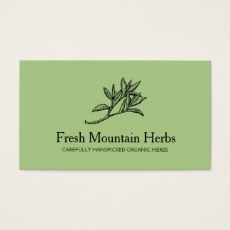 Organic Herbalist Herb Gardener Holistic Health 2 Business Card