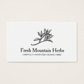 Organic Herbalist Herb Gardener Holistic Health Business Card