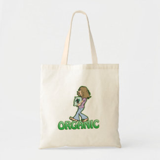 ORGANIC hippie with organic food Tote Bags