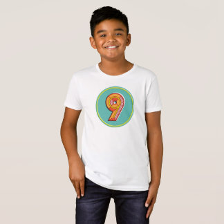 Organic Kids Number 9 T-Shirt
