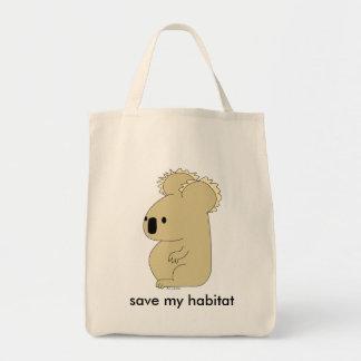 organic koala grocery bag
