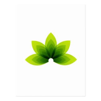 organic leaf postcard