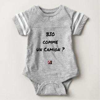 ORGANIC LIKE A TRUCK? - Word games Baby Bodysuit