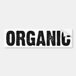 ORGANIC on White Car Bumper Sticker