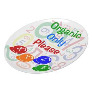 Organic Only Please Plate