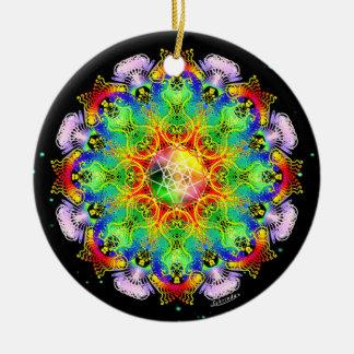 Organic Process/Alchemy of Joy Round Ceramic Decoration