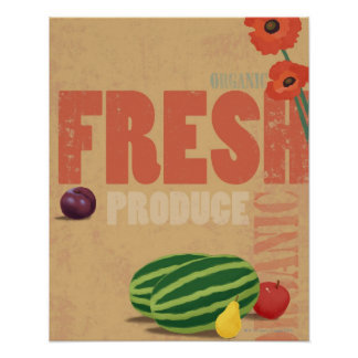 Organic Produce Poster