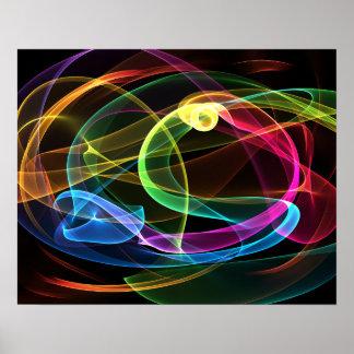 Organic Rainbow Print
