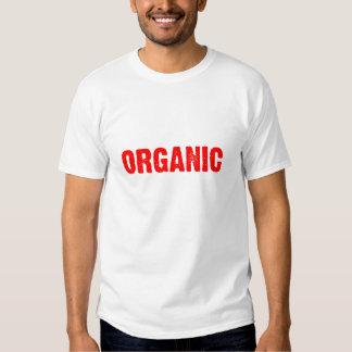 ORGANIC Red on Black Tee Shirts