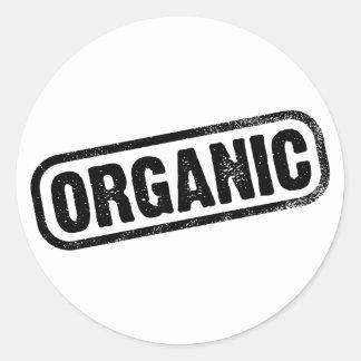Organic Round Sticker
