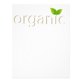 Organic sign 21.5 cm x 28 cm flyer