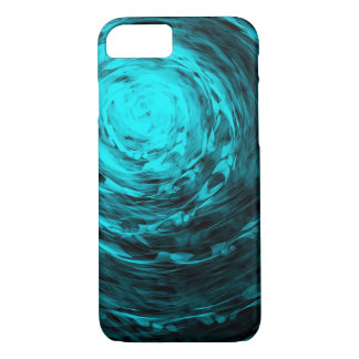 Organic Spiral Aqua - Apple iPhone Case