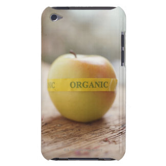 Organic sticker on apple barely there iPod cases