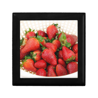 Organic Strawberries in a Colander Gift Box