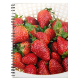 Organic Strawberries in a Colander Notebook