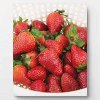 Organic Strawberries in a Colander Plaque