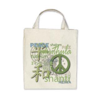 Organic Tote Bag Peace Around The World