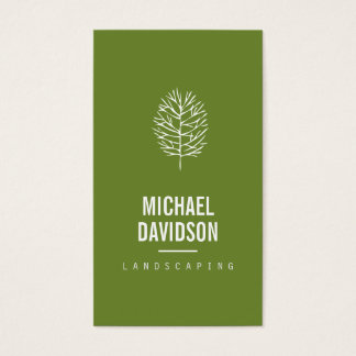 Organic Tree Sketch on Landscaping Business Card