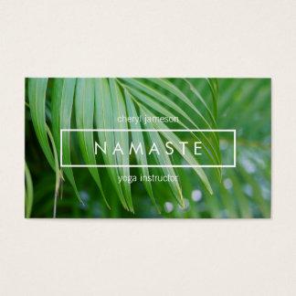 Organic Tropical Leaves Yoga, Meditation, Holistic Business Card