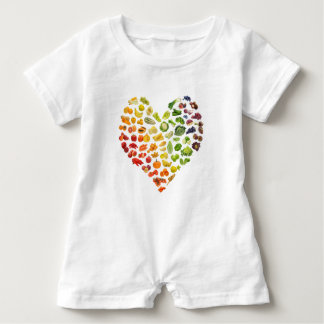 Organic Vegan Heart by Mini Brothers Baby Bodysuit