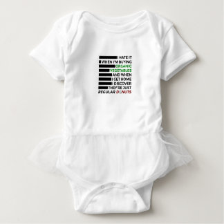 Organic Vegetables Love Donuts Baby Bodysuit