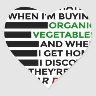 Organic Vegetables Love Donuts Heart Sticker