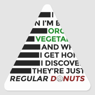 Organic Vegetables Love Donuts Triangle Sticker