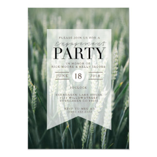 Organic Wheat | Engagement Party Invitation