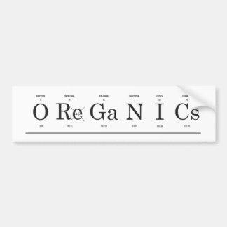Organics Bumper Sticker