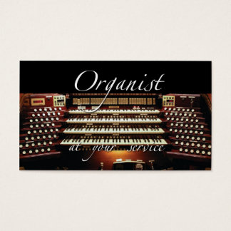 Organist business cards - at your service - 2