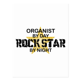 Organist Rock Star by Night Postcard