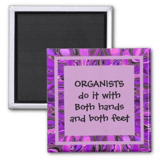 organists do it joke square magnet