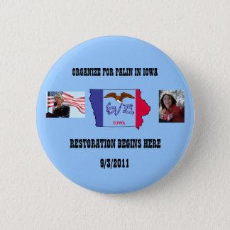 Organize For Palin In Iowa 6 Cm Round Badge