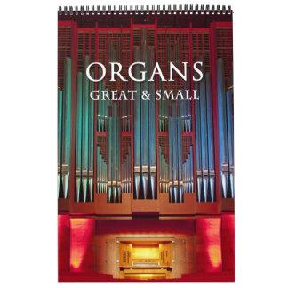 Organs Great and Small Calendar vertical